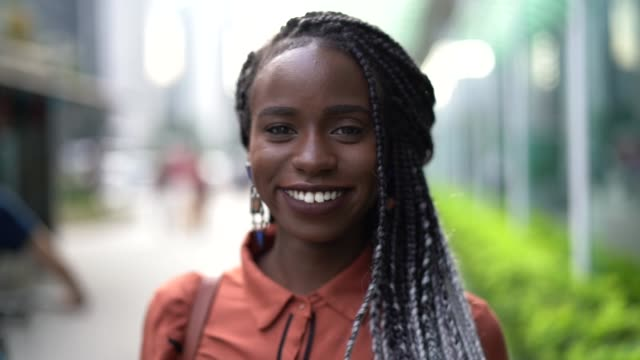Portrait of African Woman at Street video