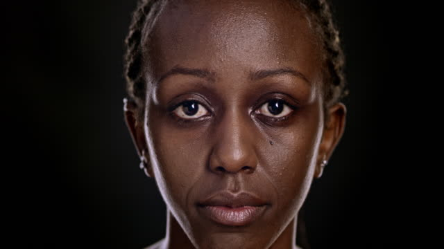Portrait of an African-American woman video