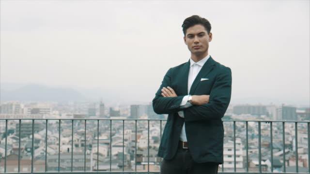 Portrait of an Asian Businessman video