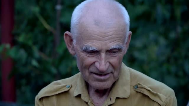 Portrait of an elderly man video