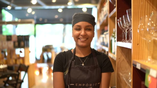Portrait of an employee at a store