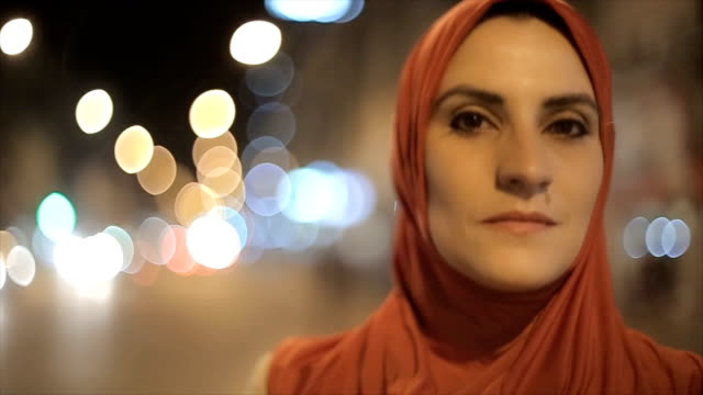 Portrait of Arab woman on the street video