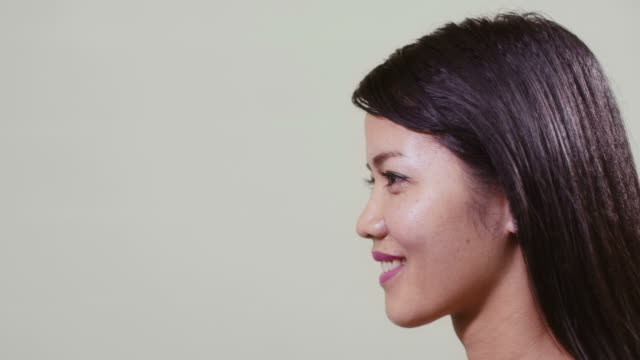 Portrait of asian woman, girl, young people video