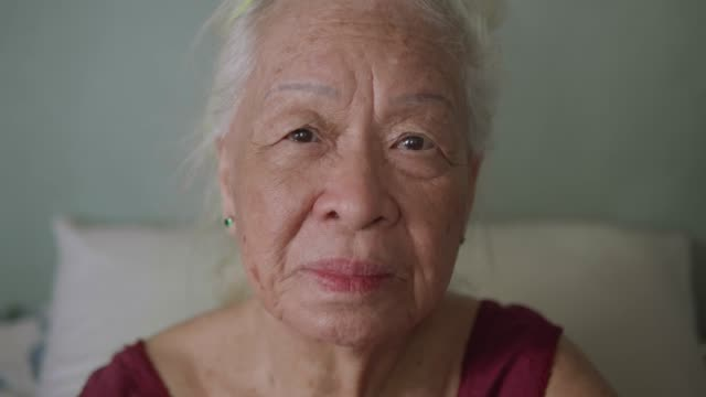 Portrait of beautiful Asian senior woman, Positive emotion. Portrait of beautiful Asian senior woman, Positive emotion. focus on foreground stock videos & royalty-free footage