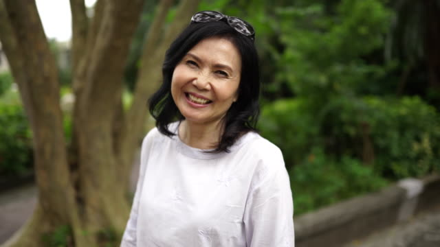 Portrait of beautiful senior Taiwanese woman