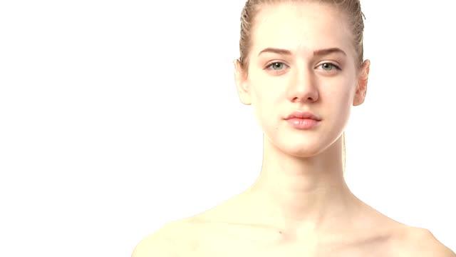portrait of beautiful woman video