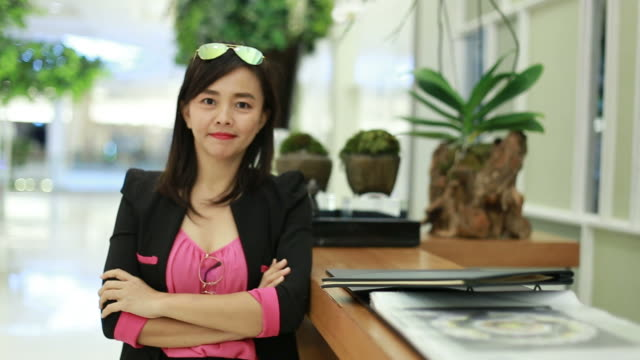 portrait of business woman expression video