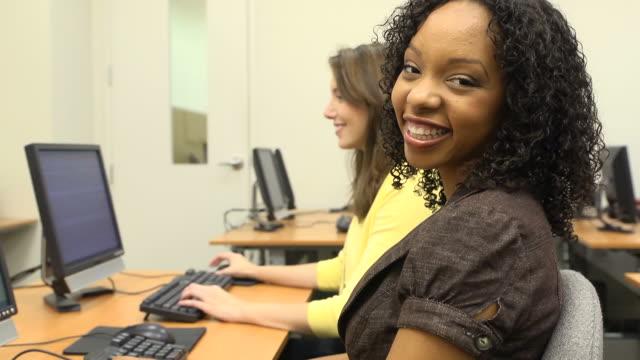 Portrait of Confident Adult Students video