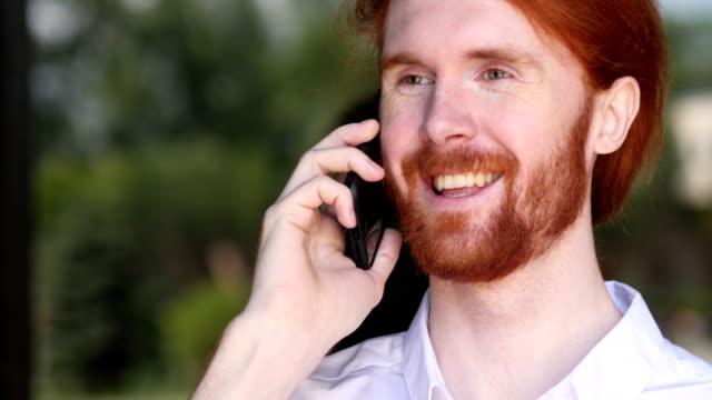 Portrait of Designer Talking on Phone video