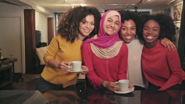 Portrait of Ethnically Diverse Group of Friends video