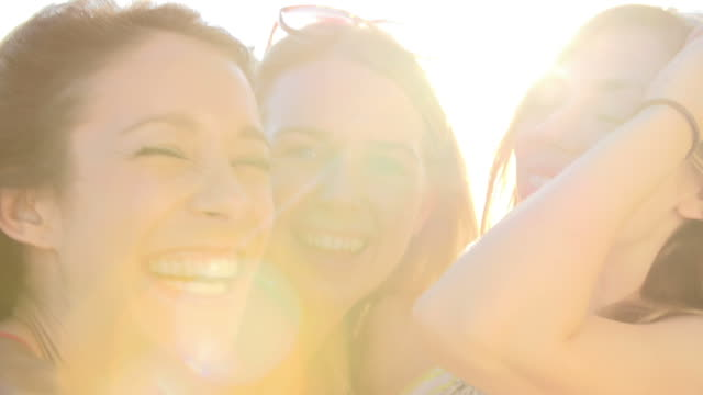Portrait Of Female Friends On Summer Holiday Together video