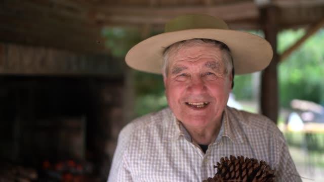 Portrait of gaucho preparing an asado (argentinian barbecue)