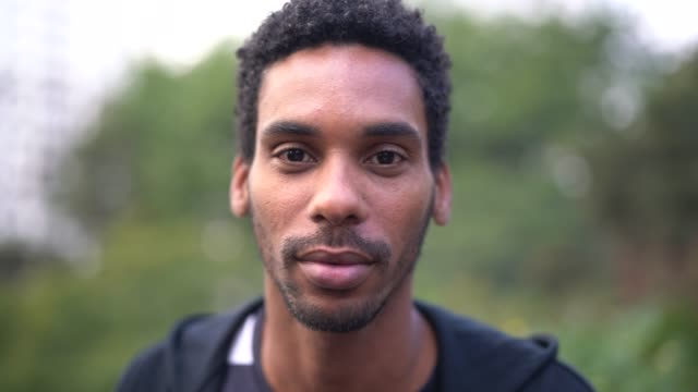 Portrait of handsome latino african man