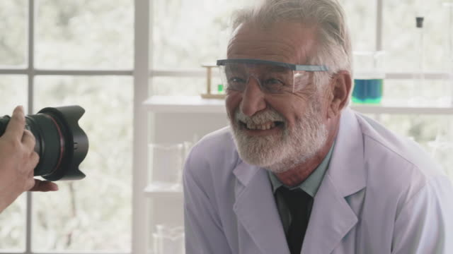 Portrait of happy scientist