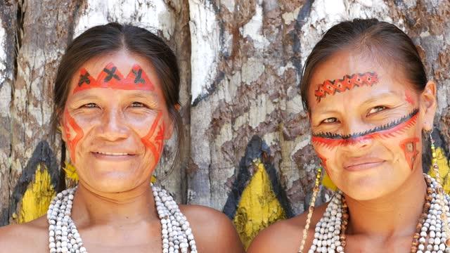 Portrait of indigenous women video