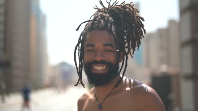 Portrait of Latino Men with Dreadlocks Real People locs hairstyle stock videos & royalty-free footage