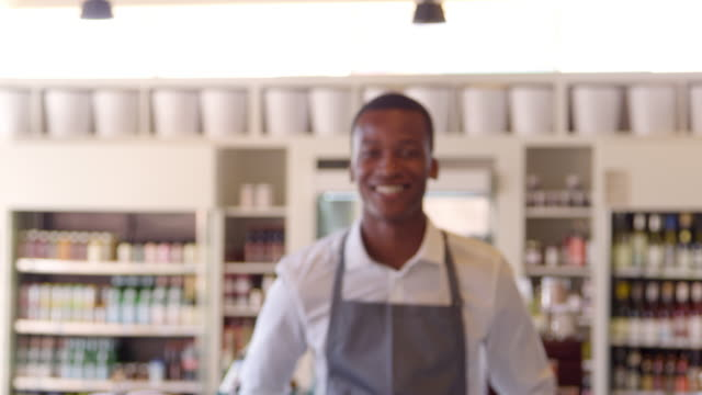 Portrait Of Male Employee In Delicatessen Shot On R3D video