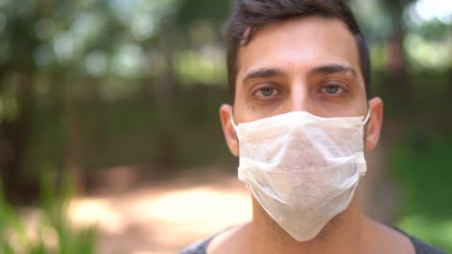 Portrait of man wearing face mask