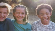 istock Portrait Of Multi-Cultural Children Hanging Out With Friends In Countryside Together 1217871379