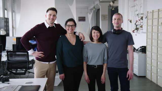 Portrait of multi-ethnic business team