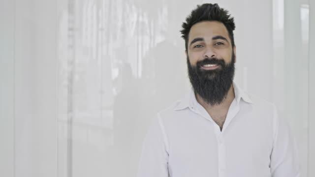 Portrait of Saudi creative businessman Slow motion video of Saudi creative businessman. mid adult men stock videos & royalty-free footage