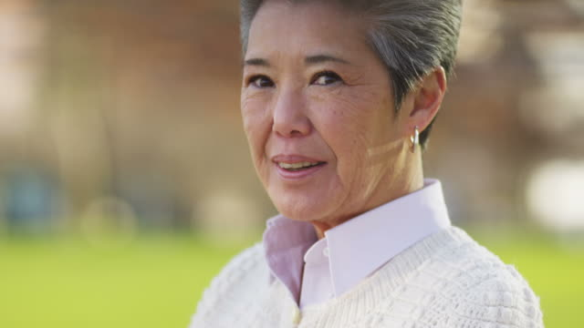 Portrait of senior Asian woman video