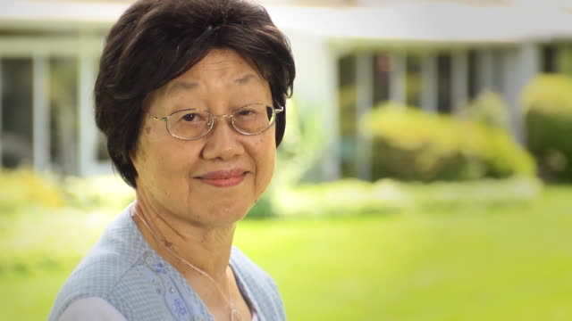 Portrait of Senior Asian Woman video