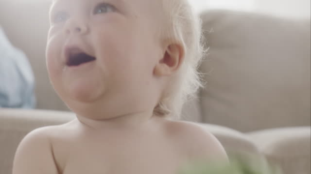 Portrait of smiling baby boy video
