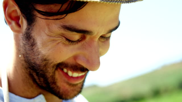 Portrait of smiling man video