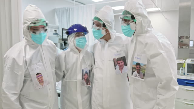 Portrait of Supportive Medical Team During Pandemic