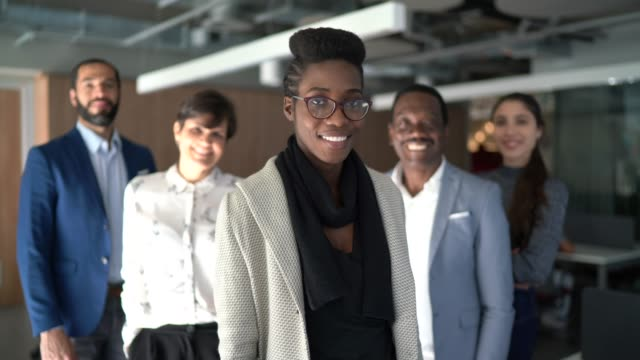 Portrait of team at work Portrait of team at work diversity stock videos & royalty-free footage