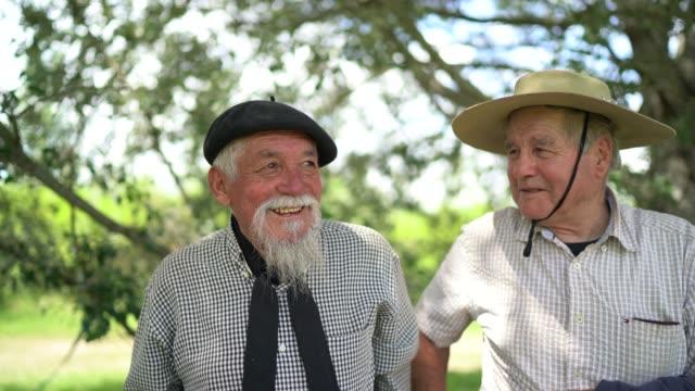 Portrait of two gauchos