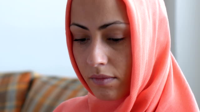 Image result for pic of a worried Muslim woman