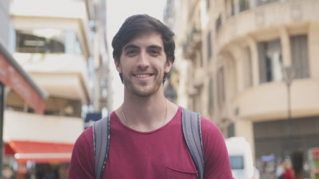 Portrait of Young Male Tourist Sightseeing in Buenos Aires video