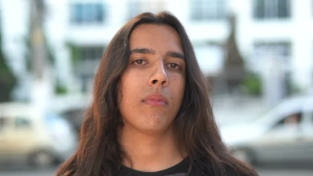 Portrait of Young Man With Long Hair Portraits long hair stock videos & royalty-free footage