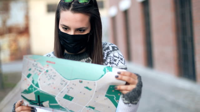 Video Portrait of young woman wearing 2.5PM face mask