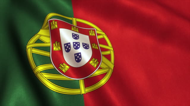 stockvideo's en b-roll-footage met portugal vlag video loop - 4k - portugal