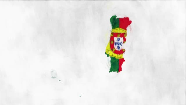 vídeos de stock e filmes b-roll de portugal map flag - mapa portugal
