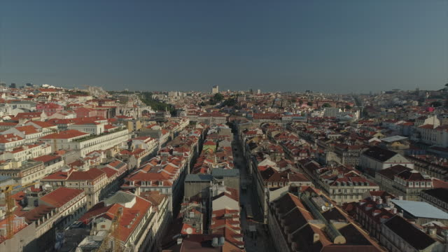 portugal sunny day time lisbon cityscape aerial panorama 4k sunny day time lisbon cityscape aerial panorama 4k portugal european culture stock videos & royalty-free footage