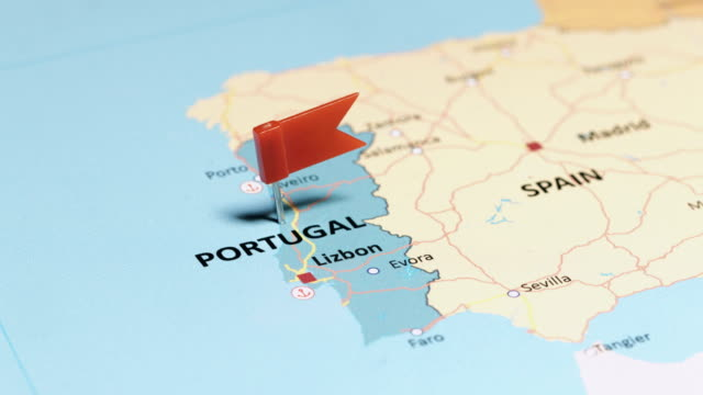 Portugal with pin