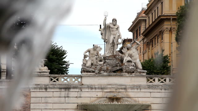 Poseidon Fountain in Rome video