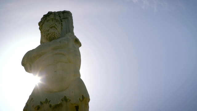 Poseidon Statue in Greece Poseidon Statue in Greece, This statue stands tall over ancient city ruins. statue stock videos & royalty-free footage
