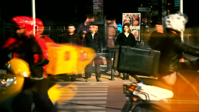HD: Posing on the Sidewalk video