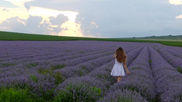 poserar utomhus i lavendel fält-4k - bulgarien bildbanksvideor och videomaterial från bakom kulisserna