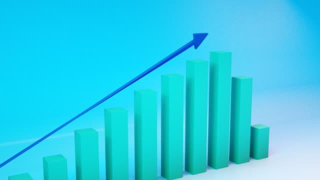 positives trend-chart - heben stock-videos und b-roll-filmmaterial
