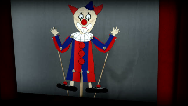 Possessed Clown Stick Puppet Show video