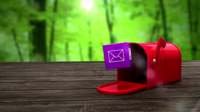 Post box opening to show at email icon video