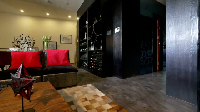 postmodern luxury living room and decoration, real time. - post modern architecture stock videos & royalty-free footage