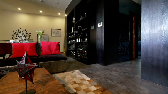 Postmodern luxury living room and decoration, Real time. video