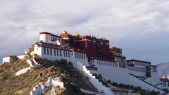 Potala palace in Lhasa, Tibet. Potala palace in Lhasa, Tibet,4K Time lapse. royalty stock videos & royalty-free footage